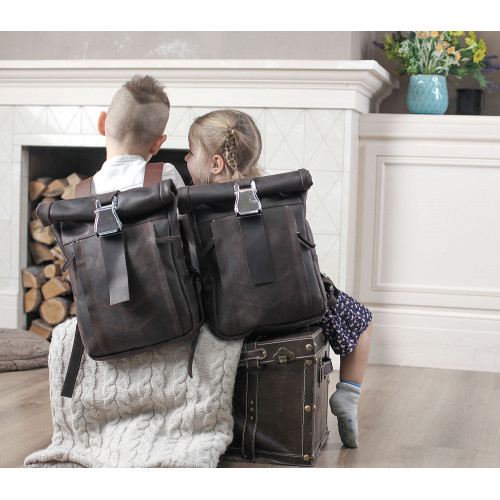 Женский кожаный городской рюкзак