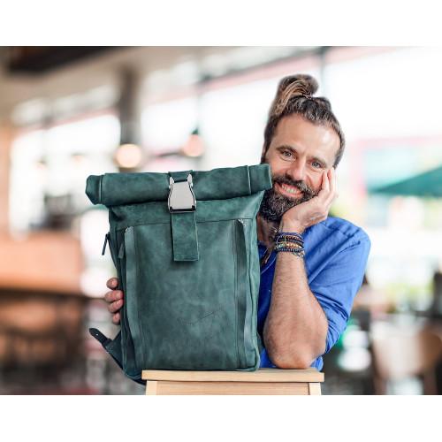 Городской кожаный рюкзак для мужчин