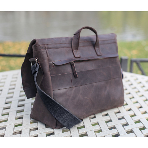 Кожаные деловые сумки для мужчин