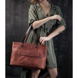 Рыжая кожаная сумка